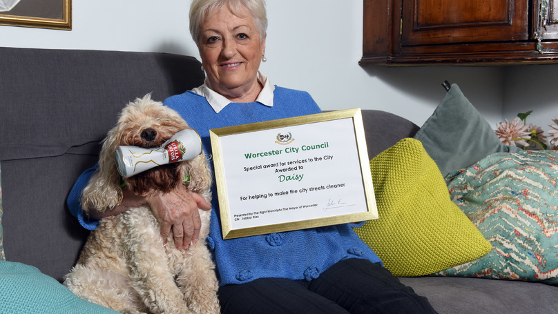 Dog Receives Award From Mayor After Eight Years Litter Picking