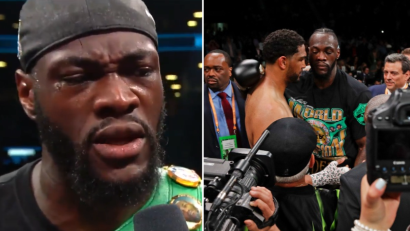 "Deontay Wilder Told Dominic Breazeale He ""Loved Him"" After Brutal First-Round Knockout"