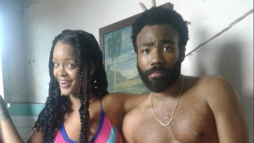 Are Rihanna and Donald Glover working on a film together?