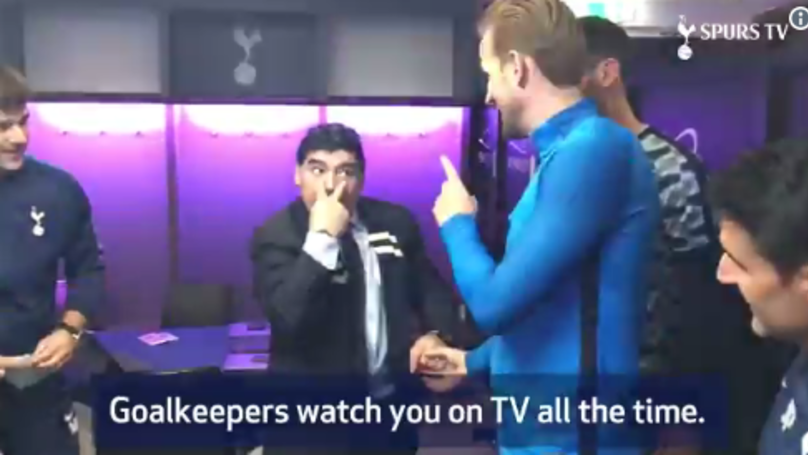 Diego Maradona Gives Harry Kane Goal Scoring Advice