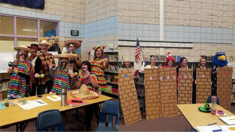 ​School Staff Slammed For Dressing Up As Mexicans And 'MAGA' Wall For Halloween