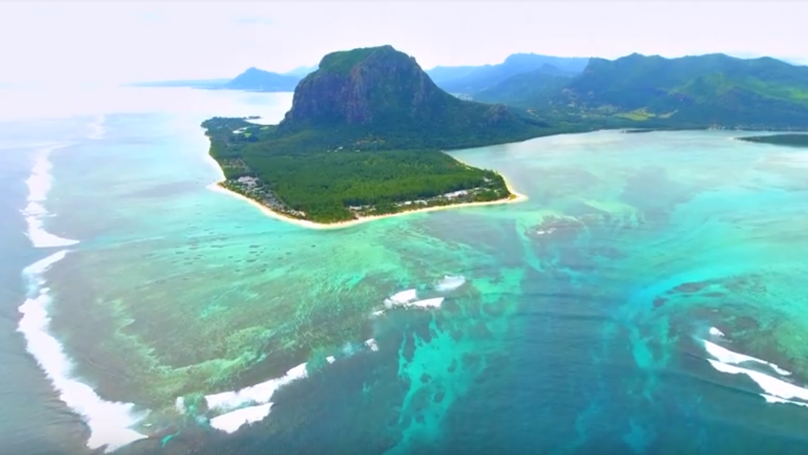 Drone Footage Captures Breathtaking Underwater Waterfall Optical Illusion