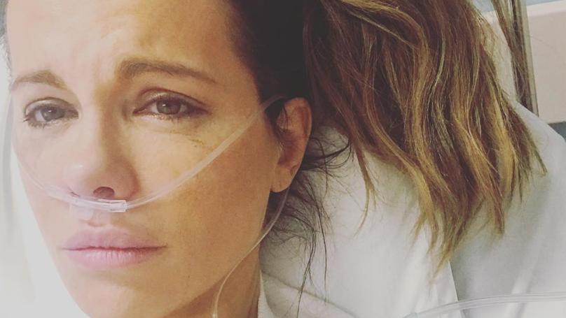 Kate Beckinsale Shares Tearful Picture After Being Hospitalised With Ruptured Ovarian Cyst