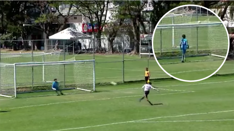 96f3e8da9bb Chivas Under-17 s Player Scored Luckiest Penalty In Football History At The  Weekend