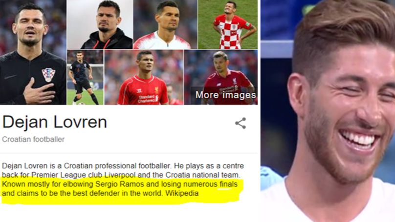 Dejan Lovren Has Had his Wikipedia Changed And It Is Hilarious