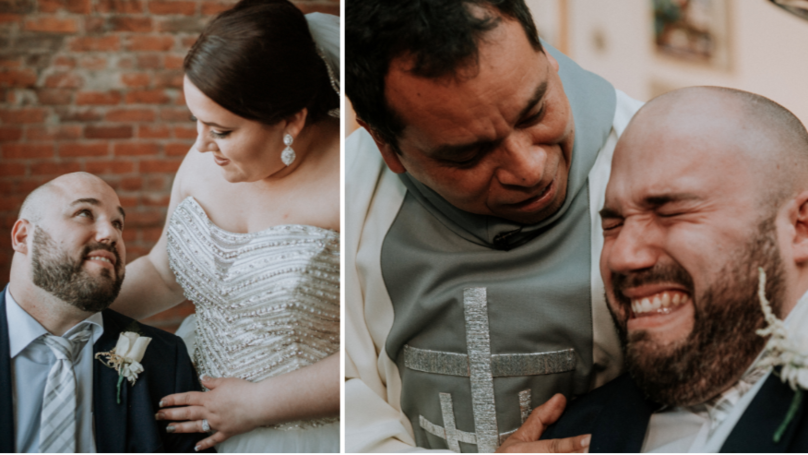 Touching Moment Groom Breaks Down As He Sets Eyes On His Bride