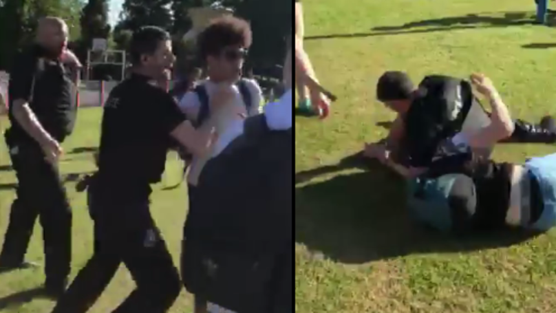 Video Of Police Tackling Teens Goes Viral