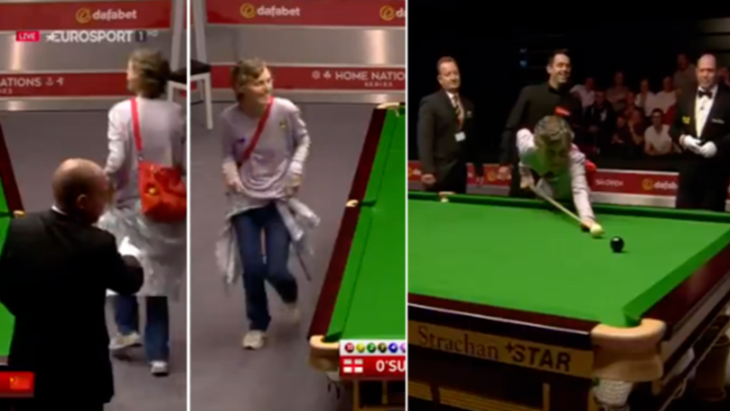 Throwback To Ronnie O'Sullivan Letting Pitch Invader Take Shot On The Black