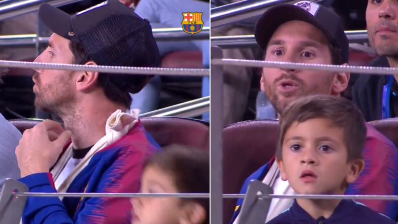 Barcelona Release Video Of Lionel Messi Being A Fan And It's Brilliant