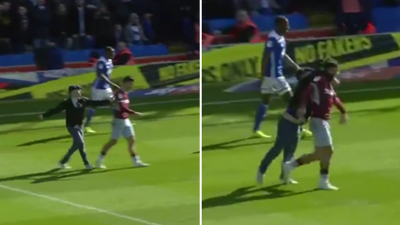 Fan Runs Onto The Pitch And Attacks Jack Grealish In Birmingham Derby