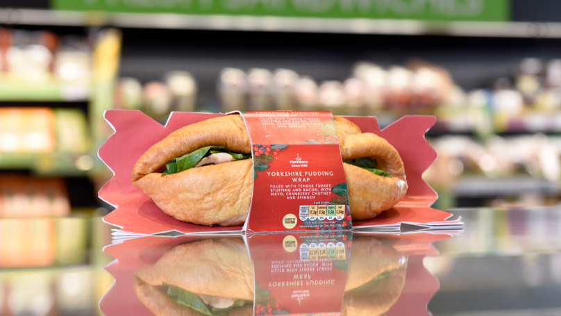 Popular UK Supermarket Launches Yorkshire Pudding Christmas Dinner Wrap Meal Deal