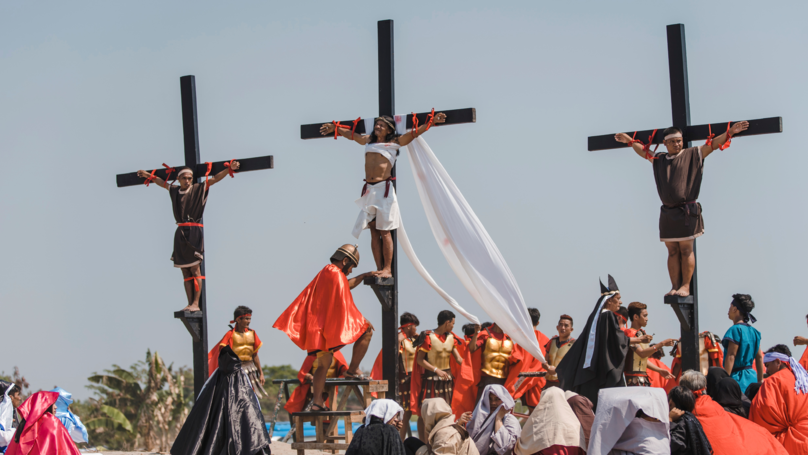 Devoted Catholics Nailed To Crosses To Celebrate Good Friday