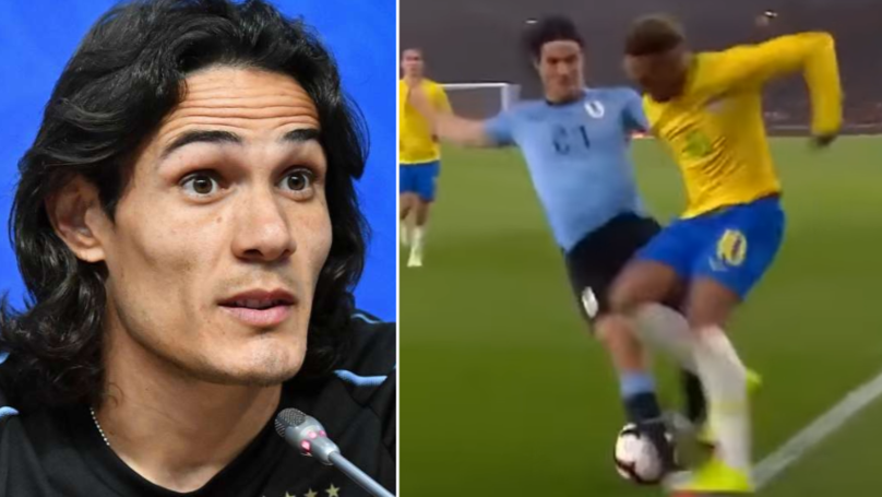 What Edinson Cavani Said After Taking Out Neymar During International Friendly