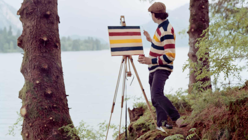 Artist Travels To Scenic Locations To Paint The Pattern On His Shirt