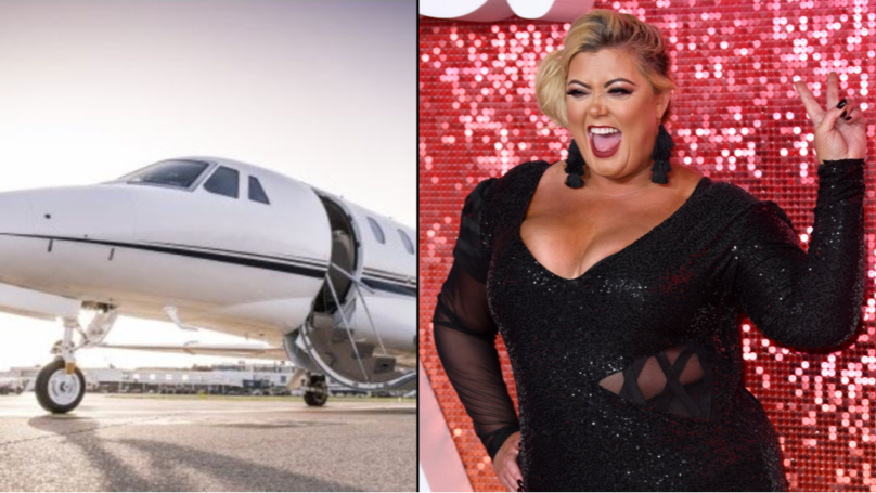 Gemma Collins Boasts About Flying On Private Jet By Posting Google Stock Image