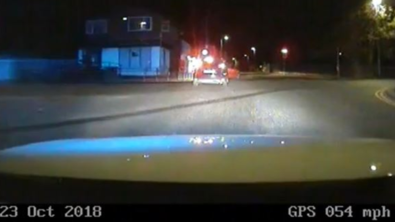 Police Chase Captures Driver Doing 80mph In 30mph Zone And Taking Roundabout Wrong Way