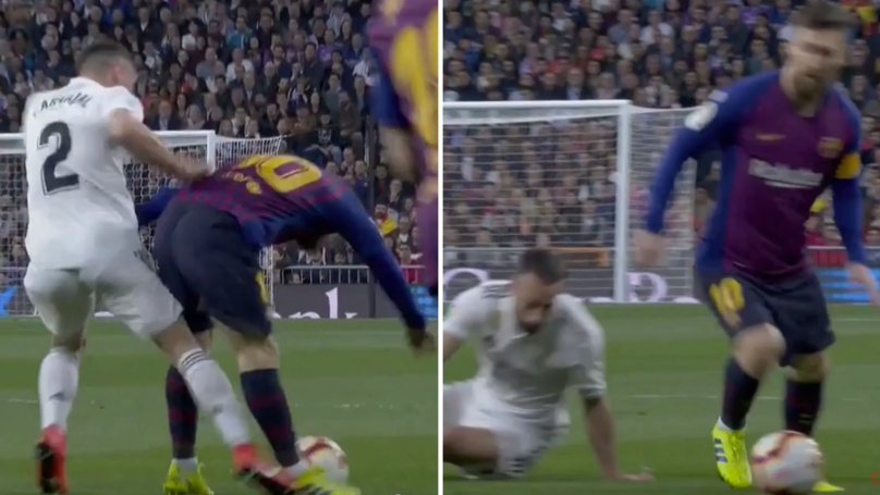Lionel Messi Humiliates Dani Carvajal During El Clásico With His Defensive Display