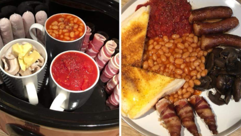 Woman Shares Genius Hack For Cooking Full English In A Slow Cooker