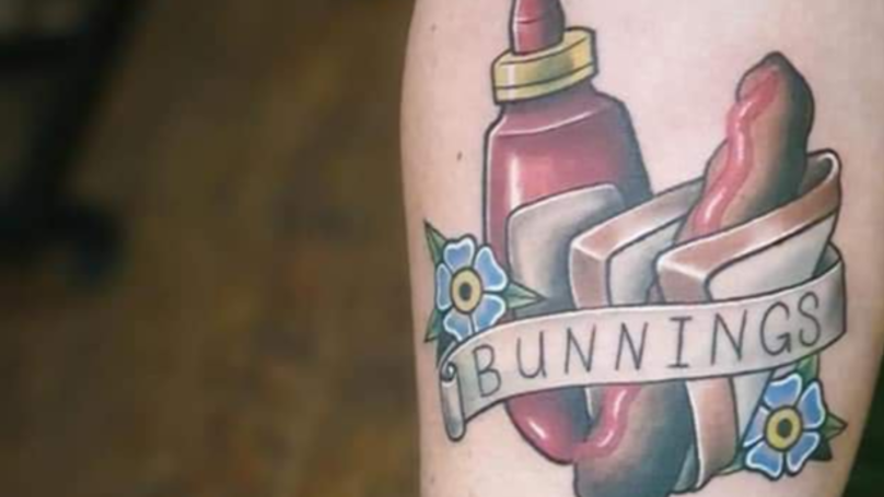 Someone Got A Bunnings Sausage Tattoo And They Couldn't Be More Proud To Call Australia Home