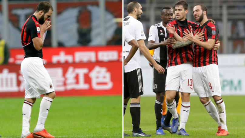 Gonzalo Higuain Apologises For Red Card Against Juventus