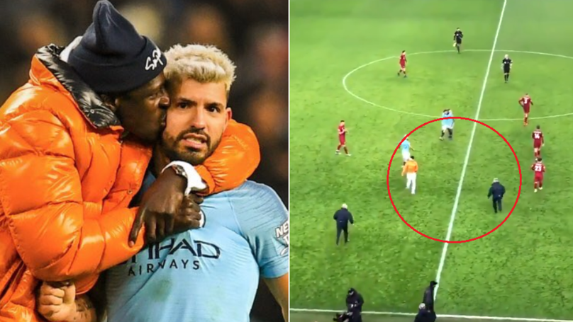 Stewards Hilariously Chased Benjamin Mendy Thinking He Was A Pitch Invader