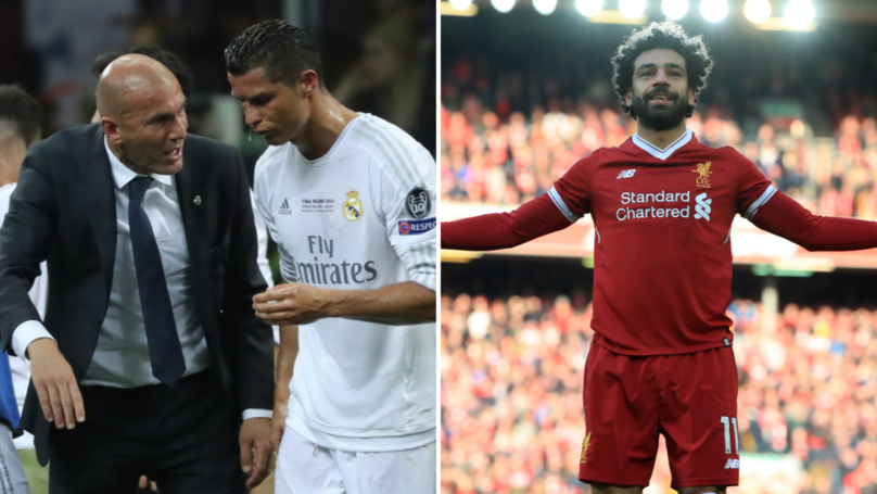 Zidane Discusses Possibility Of Swapping Cristiano Ronaldo For Mo Salah