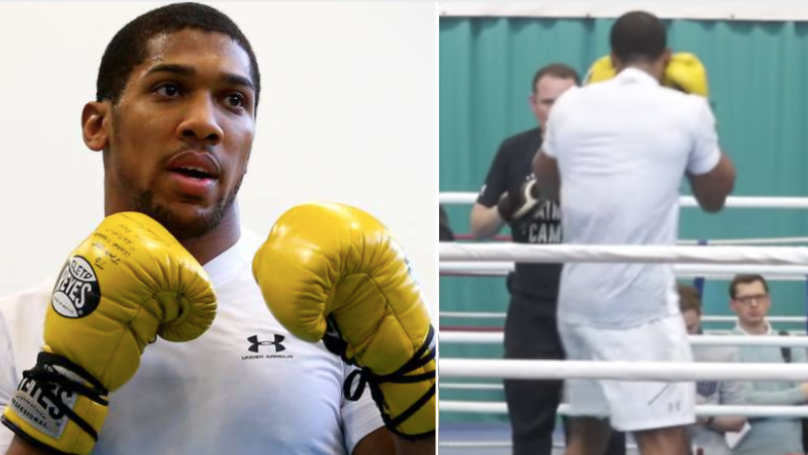Anthony Joshua Looks 'Significantly' Leaner In Latest Public Workout