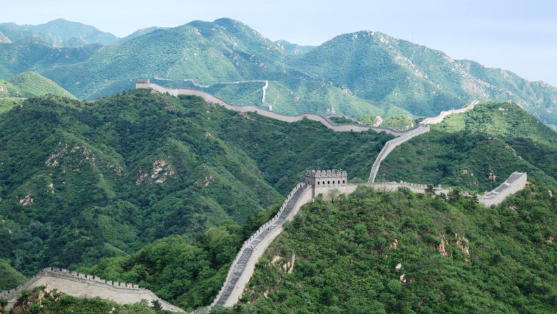 Part Of The Great Wall Of China Collapses Following Heavy Rainfall