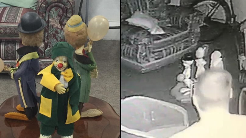'Possessed' Clown Appears To Move On Its Own As Spirit 'Puts It Back'