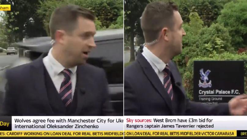 Sky Sports News Presenter Gets Splashed By Patrick van Aanholt On Live TV