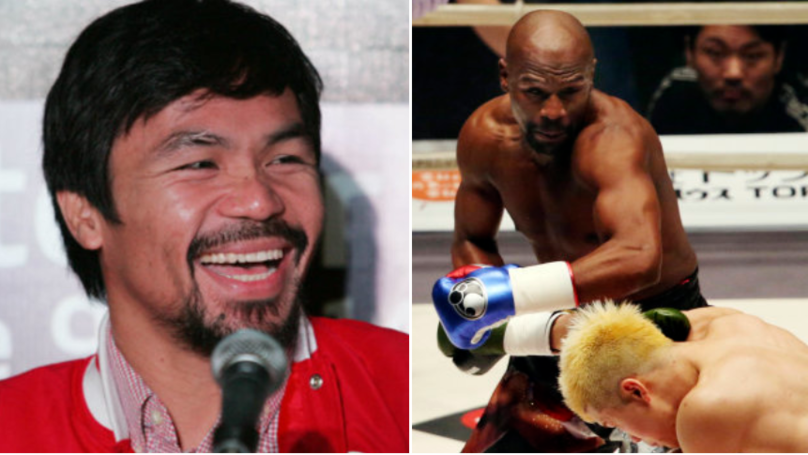 Manny Pacquiao Hilariously Responds To Floyd Mayweather Vs. Tenshin Nasukawa