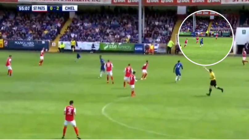 Tiemoue Bakayoko Played A Simple Pass Out Of Play In Friendly Against St Pats