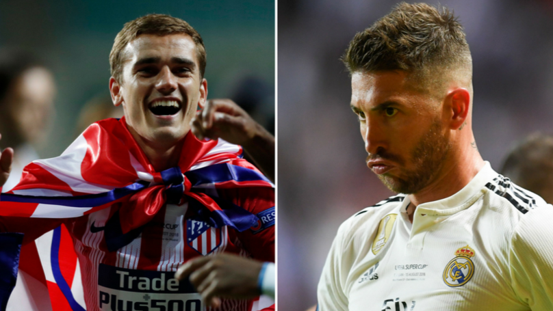 Antoine Griezmann Trolls Sergio Ramos For European Super Cup Win