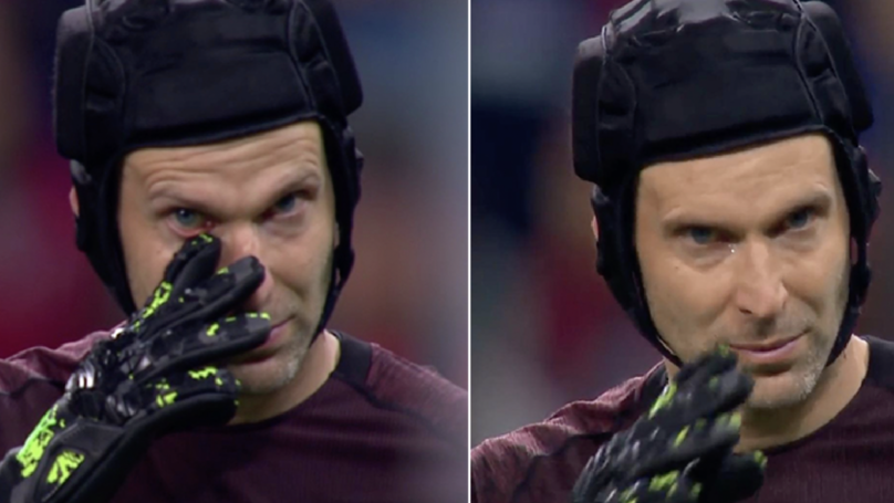 Petr Cech Breaks Down In Tears After Europa League Final