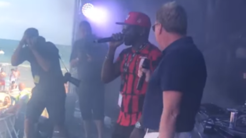 Harry Redknapp Sings With DJ Luck And MC Neat At Festival