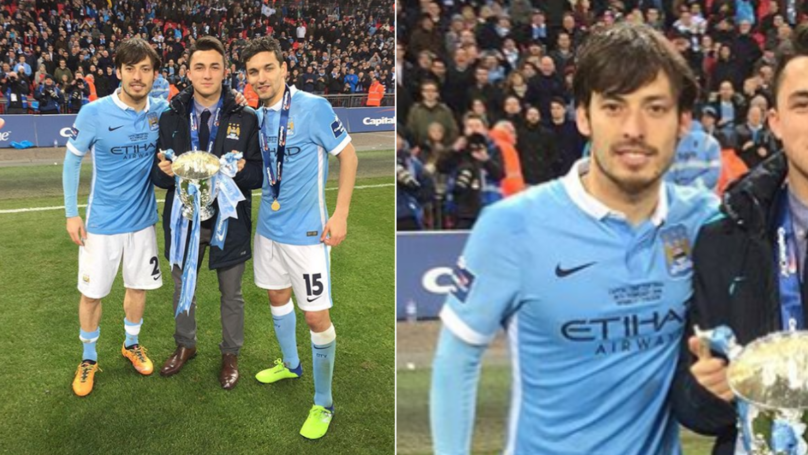 ed928718610 The Brilliant Story Behind David Silva's 'Missing' Capital One Cup Winners  Medal