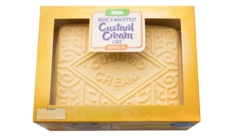 ASDA Is Selling A Giant Custard Cream Cake For £8