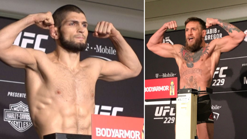 Khabib Nurmagomedov And Conor McGregor Make Weight, UFC 229 Is Official