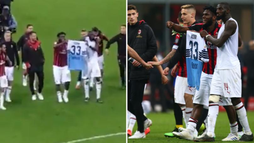 AC Milan Players Apologise After Disrespecting Lazio's Francesco Acerbi's Shirt