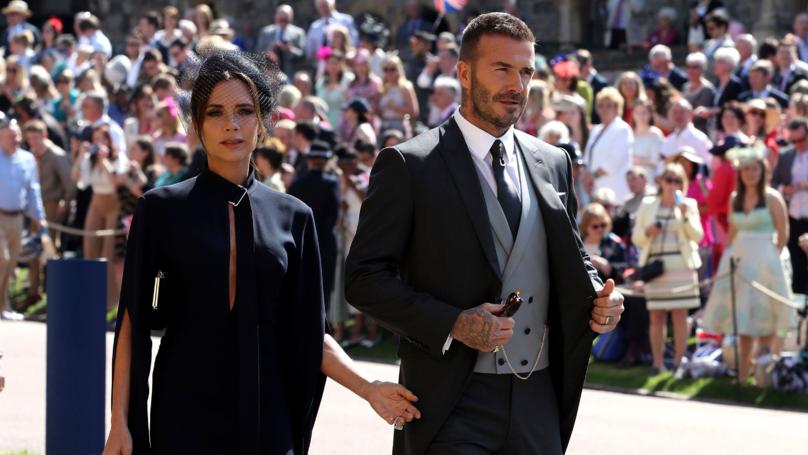 David Beckham Turns Up Looking Like The King Of England At Royal Wedding