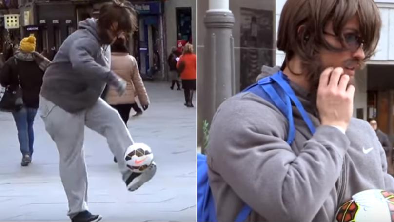 Cristiano Ronaldo Pranks Public By Disguising Himself As Homeless Man