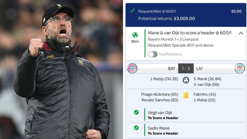 Punter Pockets £3,000 After Placing An Incredible Bet On Liverpool's Win Over Bayern Munich