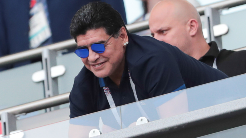 Maradona Trolls England Fans With Instagram Post