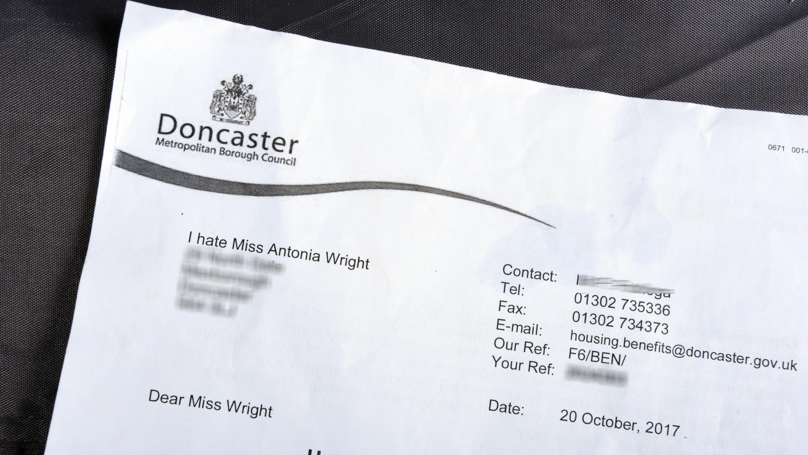 Council Writes Letter To Young Mum Saying That They Hate Her