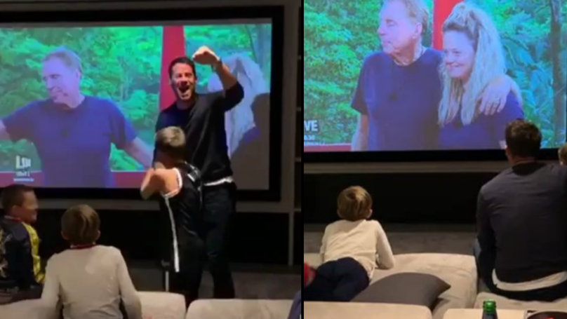 Jamie Redknapp Shares Video Of Him Celebrating Harry's 'I'm A Celeb' Win