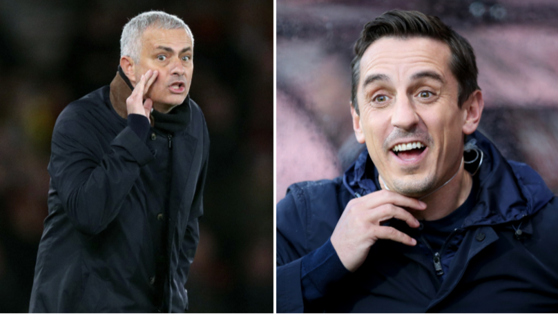 Jose Mourinho Sent A Message To Gary Neville After 2-2 Draw With Arsenal