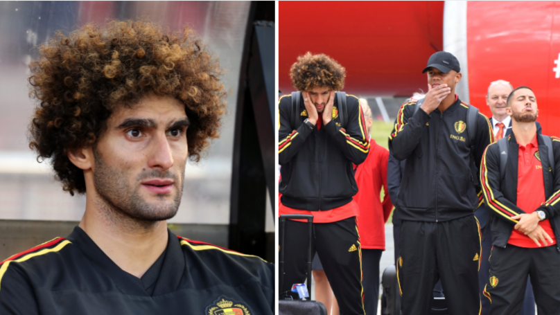 Marouane Fellaini Is Officially The Best Striker In Belgium's World Cup Squad