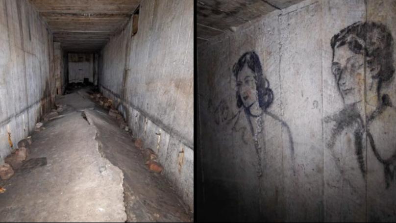 Explorer Finds Untouched Coal Sketches In Secret World War Two Bunker