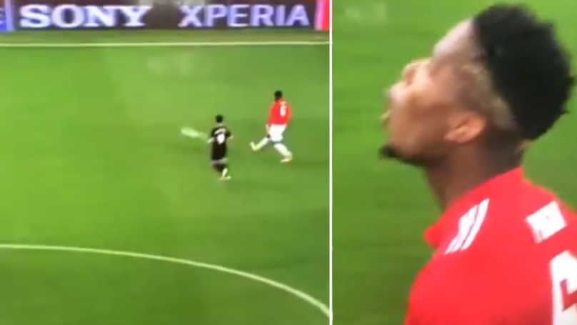 The Moment Paul Pogba Passed To An Advertising Board In The 90th Minute