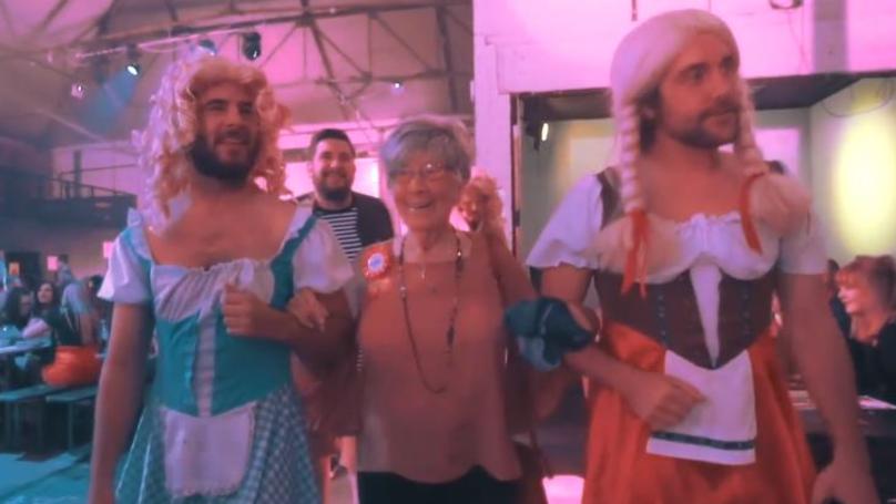 Great-Grandmother Celebrates Her 91st Birthday At Bongo's Bingo
